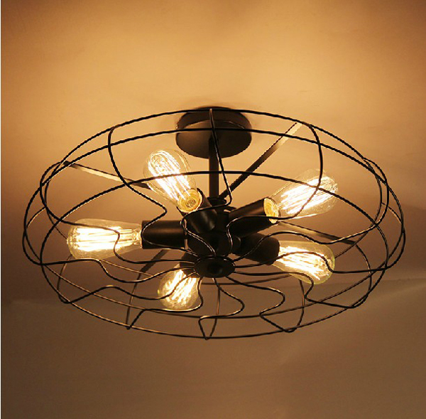 Retro vintage industry american country fan edison ceiling for Home decorations fan