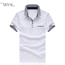 Men Polo Shirts Mercerized Cotton Fashion Brand Summer Lapel  Tees Stripe Homme Breathable Blouse Male Big Size 5XL White S024