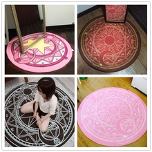 Buy WINLIFE 160*160cm Anime Sakura Round Style Decoration Fluffy Rugs Anti-Skid Shaggy Area Home Bedroom Carpet Floor Mat for $17.00 in AliExpress store