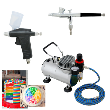 How To Clean Cake Decorating Airbrush : Aliexpress.com : Buy Super Airbrush Twin(2) Airbrush Cake ...