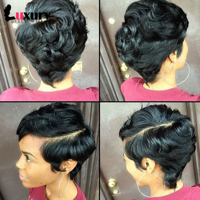 27 Pieces Short Human Hair Weave With Free Closure - 27 Piece Hairstyles