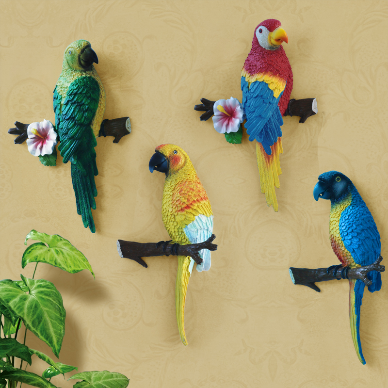 Big size lovely resin bird crafts artificial birds garden for Art and craft for wall decoration