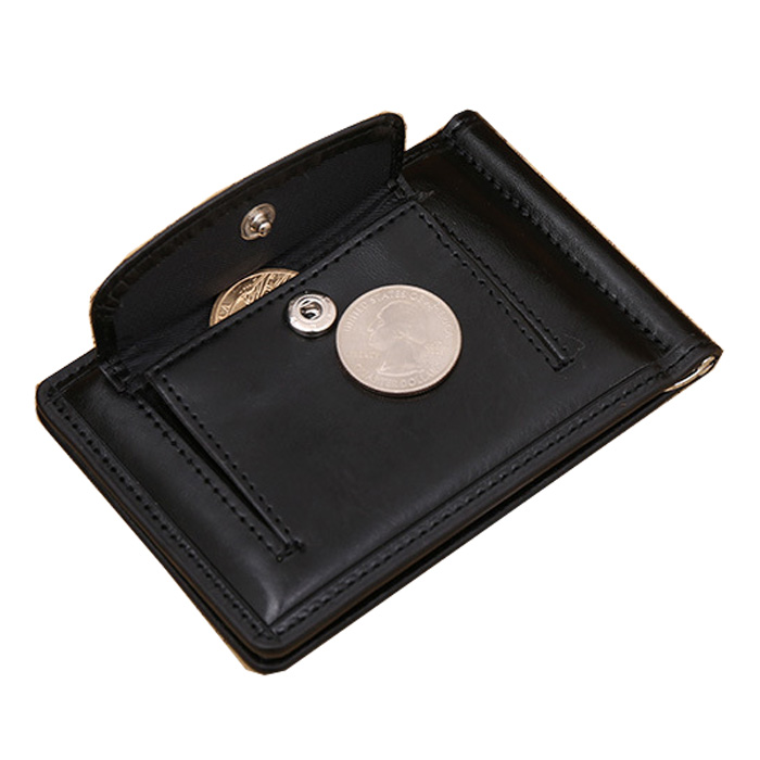 Гаджет  2015 New Men Top PU Money Clip Black  and  Brown With Buckle Pocket  Billfold Clamp For Money Quality Card Case Wallet Purse None Камера и Сумки
