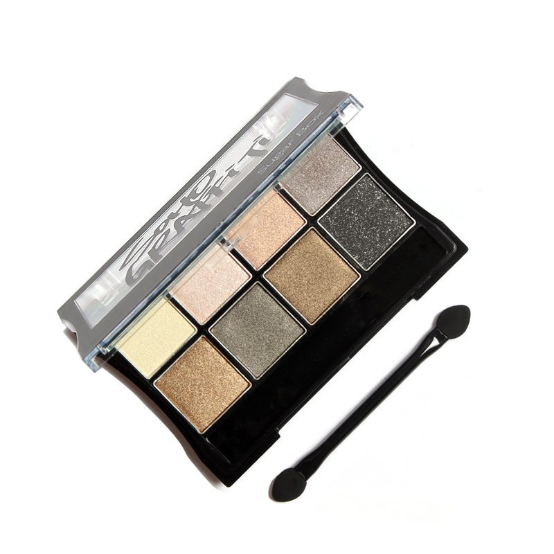 Baked Eye Shadow Palette Pigment Eyeshadow in Shimmer Metallic By Sugar Box(China (Mainland))