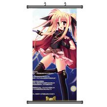 45 X 95 e6789 Magical Girl Lyrical Nanoha Fate Yuno Arf cartoon anime wall scroll picture mural poster art cloth canvas painting