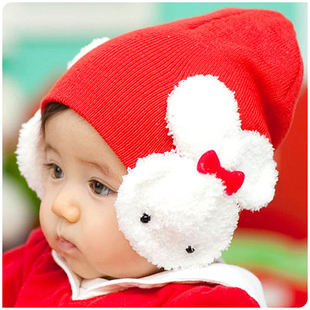 Free Shipping Baby Toddler Kids Boys Girl Winter Ear Flap Warm Hat Beanie Cap Crochet Rabbit M01(China (Mainland))