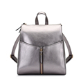 Famous Brand 2016 New Silver Backpack Women All match Fashion Casual Small Bag Dap Pack Front