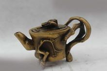 "4""Chinese Collect Folk Pure Bronze Lucky beautiful plum blossom Pot water jug DDA26(China (Mainland))"