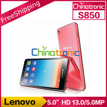 "Original Lenovo S850 Multi-language MTK6582 Quad-core 1.3G Android4.2 Dual-SIM WCDMA 8.0MP 5.0""IPS 1GB RAM+16GB ROM 13.0MP(China (Mainland))"