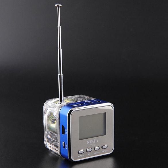 Portable Mini Speaker Digital Music MP3/4 Player Micro SD TF USB FM Radio P4PM(China (Mainland))