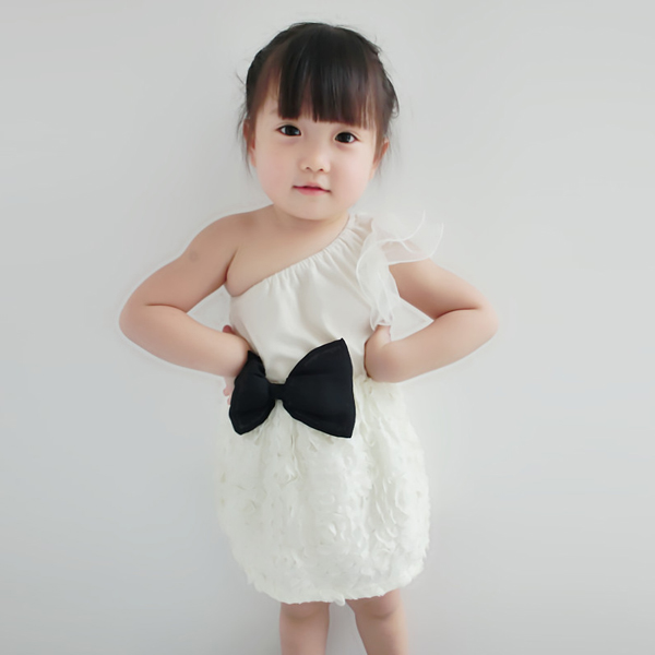 1 shoulder summer dress kids