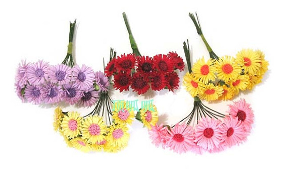 200pcs cheap Artificial Real Touch Flower 2cm 6 colors in white red blue yellow Silk sunflower For Home Wedding Decoration(China (Mainland))