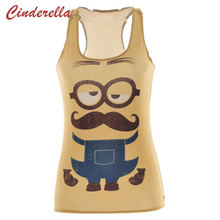 Women Tank Despicable Me 2 3D Print Minions Women T-Shirt New 2015 Stuart Fashion Camisole Female Vest Ropa Mujer