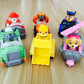 Hot 2016 In Stock Russian Kid Toy Puppy Patrol Patrulla Canina Toys Everest,Ryder,Skye,Chase Vehicle Car Spain Patrol Canine