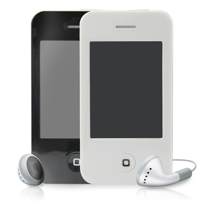 "Black/White 4GB 2.8"" Touch Screen I9 4G Style Mp3 Mp4 MP5 Player with Video Camera FM Radio Photo Function Free shipping"