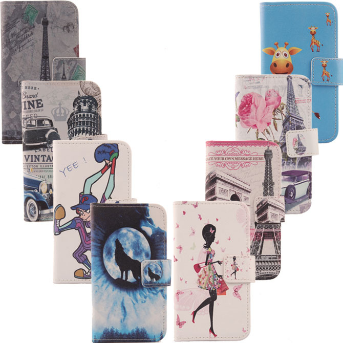 New Flip Cover Skin Pouch With Card Slot Optional High Quality Painted PU Leather Case Phone Case For Utime Smart PDA S36 I15(China (Mainland))