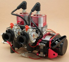 Remete controller Gas RC Boat Ship Gas Engine Strong Super QJ 2E36CM 2 Cylinders 58CC/52CC  Motor gasoline engine(China (Mainland))