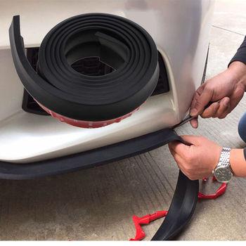 Car Body Bumper Door Guard Protector 2.5m Strip Black Rubber Mouldings Trim Lip