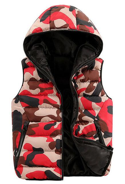 Casual Camouflage Waistcoat