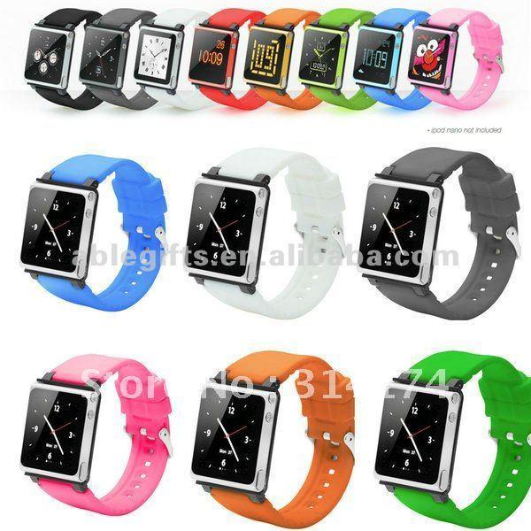 Silicone watchband fashion ipod watch