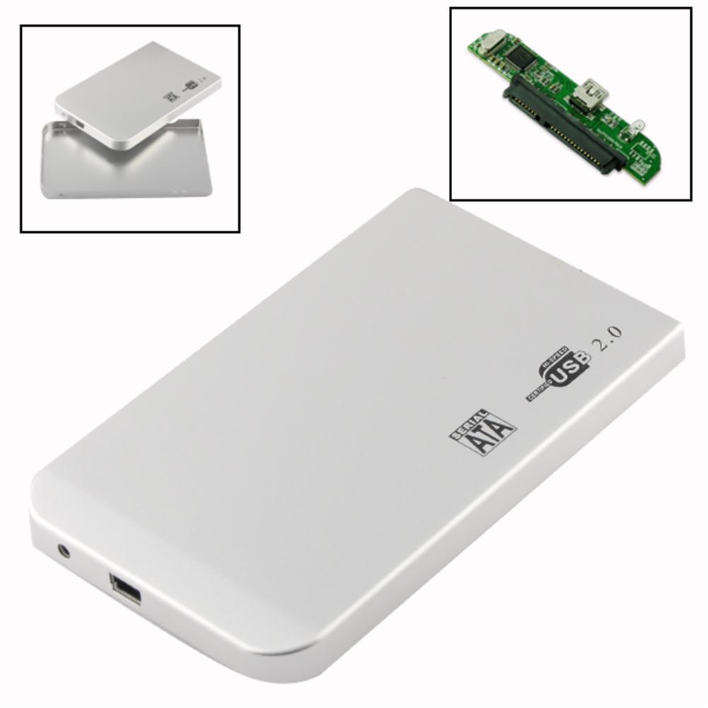 """EL3202 2.5"""" USB 2.0 TO SATA SERIES ATA HARD DRIVE DISK HD/HDD ENCLOSURE CASE SILVER(China (Mainland))"""