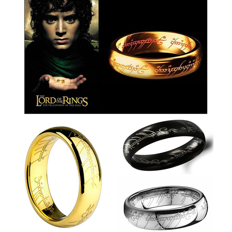 Гаджет  2015 Men Stainless&titanium ring male,fashion black golden silver stainless steel rings,for mens lord of the rings ring anillos None Ювелирные изделия и часы