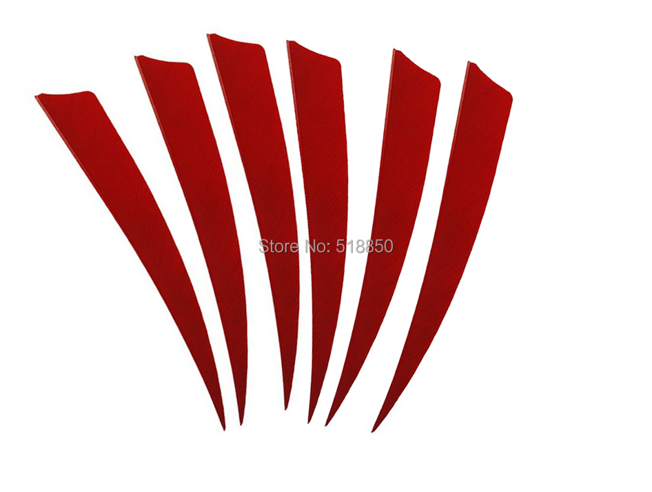 200pcs red peltate archery refinement  natural Turkey Feather 5 inches DIY for  arrow archery feather fletching arrow ends