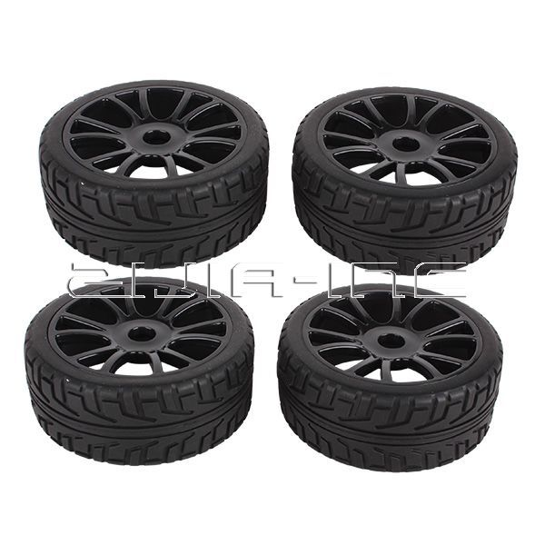 4pcs Wheel Rim Tires Tyre Replace for RC 1:8 Off-Road Vehicle Car Thunder Tiger(China (Mainland))