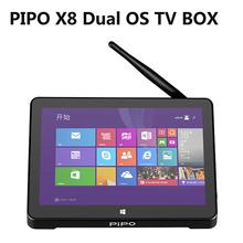 "PIPO X8 Dual OS TV BOX mini pc 7"" Screen Windows 8.1 Android 4.4 Intel Z3736F Quad Core 2GB+32GB/64GB Mini PC ScreenTablet HDMI(China (Mainland))"