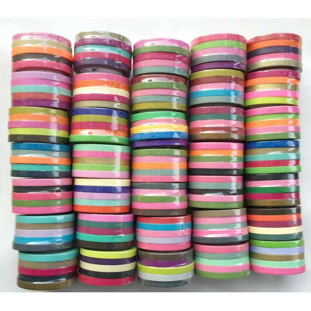Free shipping 24x 5 Washi tape rainbow colors, 1000 Patterns washi tape, paper tape, washi tape, craft tape,Scrapbooking Tape(China (Mainland))