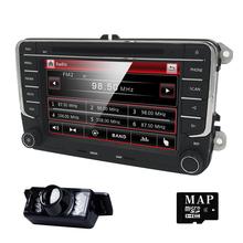 Buy 2 DIN Car DVD GPS Radio stereo para VW golf 4 golf 5 6 polo tiguan touran passat jetta sharan caddy t5 steering wheel BT monitor for $168.00 in AliExpress store