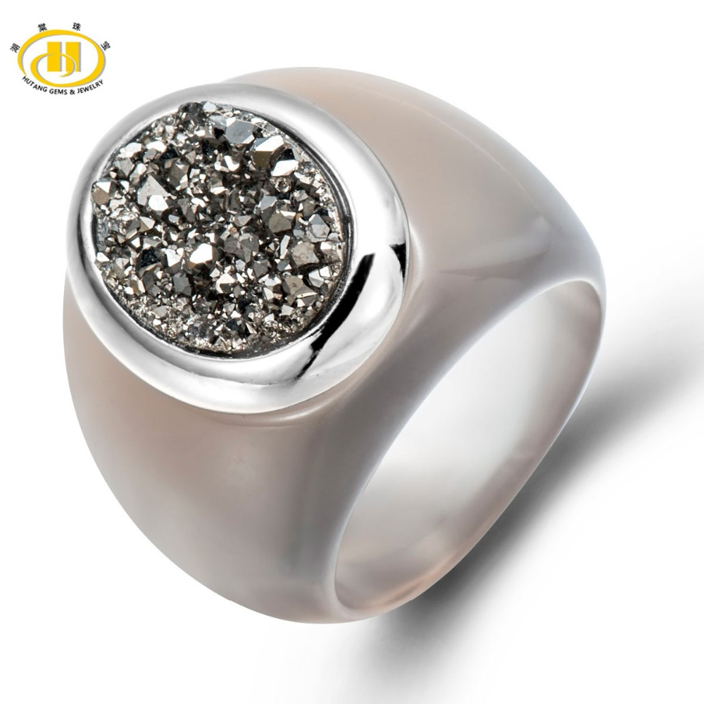Durzy (Oval 13x10mm) &amp; Agate Solid 925 Sterling Silver Jewelry Fine Ring for Women<br><br>Aliexpress