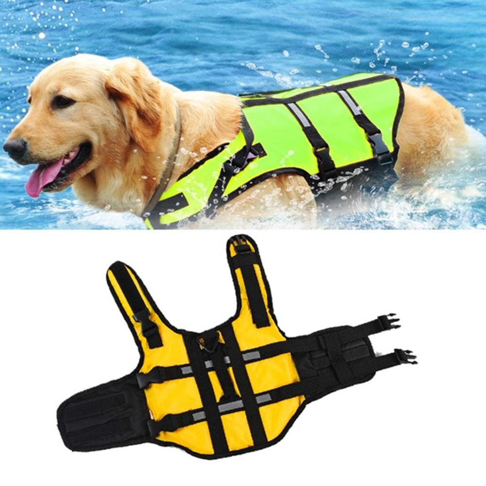 2016 Newest Pet Dog Swimwear Oxford Fabric Pet Dog Life Jacket Pet Dog Swim Training Jacket(China (Mainland))