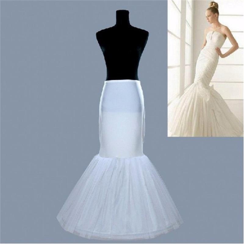 Stock Petticoats Mermaid Crinoline White 2015 Bridal Underskirt Slip Full Length Petticoat Evening/Prom/Wedding Dresses - Ushine Wedding & Prom Factory store