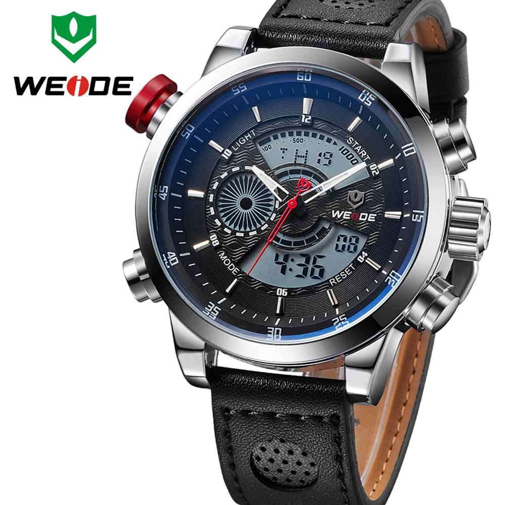 Relogio masculino LED watch WEIDE Men's Casual Wristwatches Military Watches Men Sports Quartz Digital Watch Luxury Brand clock(China (Mainland))
