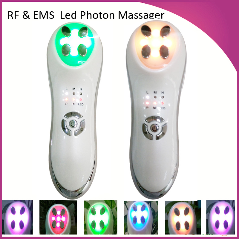 FreeShipping Portable RF Radio Frequency Skin Lifting Tightening IPL Led Photon Anti Acne Skin Rejuvenation Beauty Device