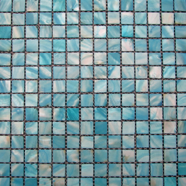 Broken tile mosaic backsplash