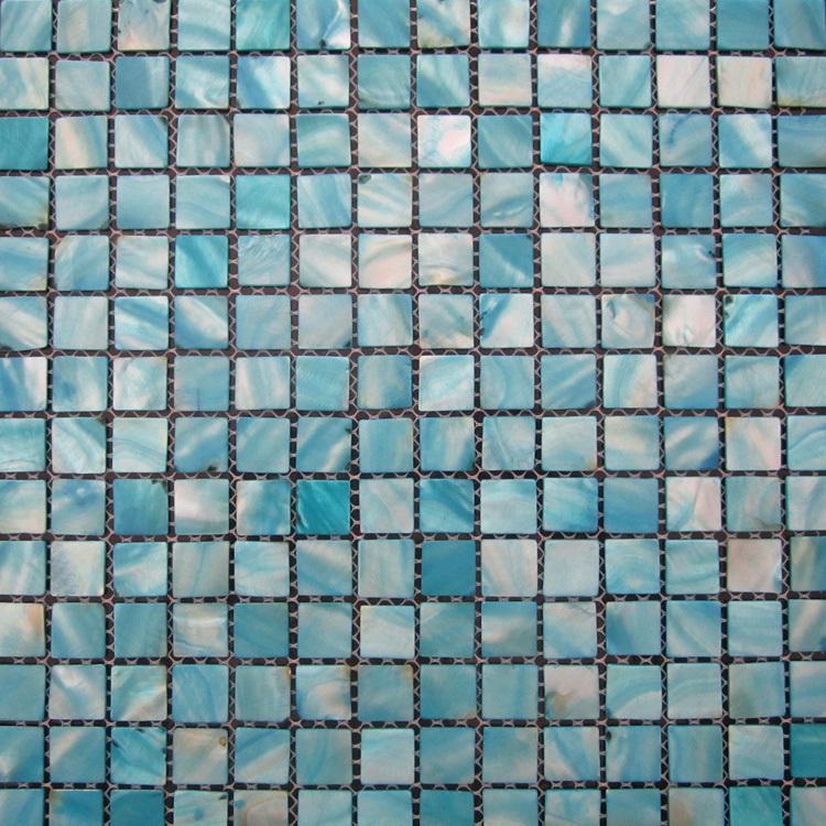 Azulejos Para Baño Lowes:Azul la madre de pearl Shell tile azulejos de mosaico backsplash de la