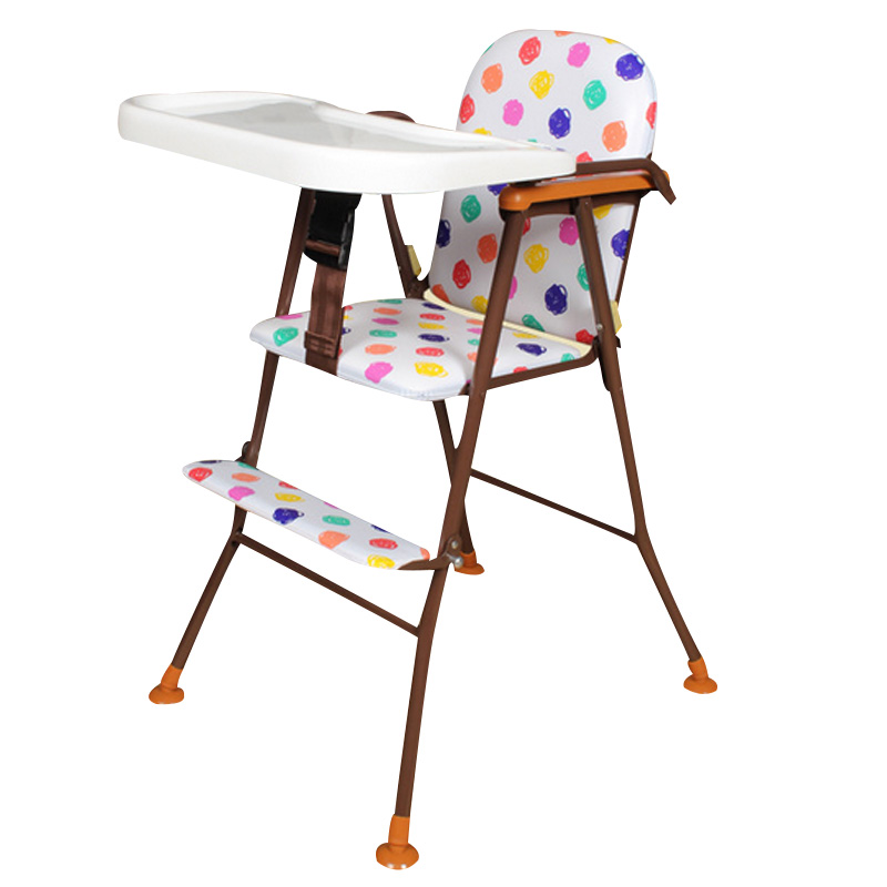 Фотография Children Fashion Portable Foldable High Chair Toddler Baby PVC & PP Eat Paint Dinner Table Feeding Desk Dinette for Kids Seats