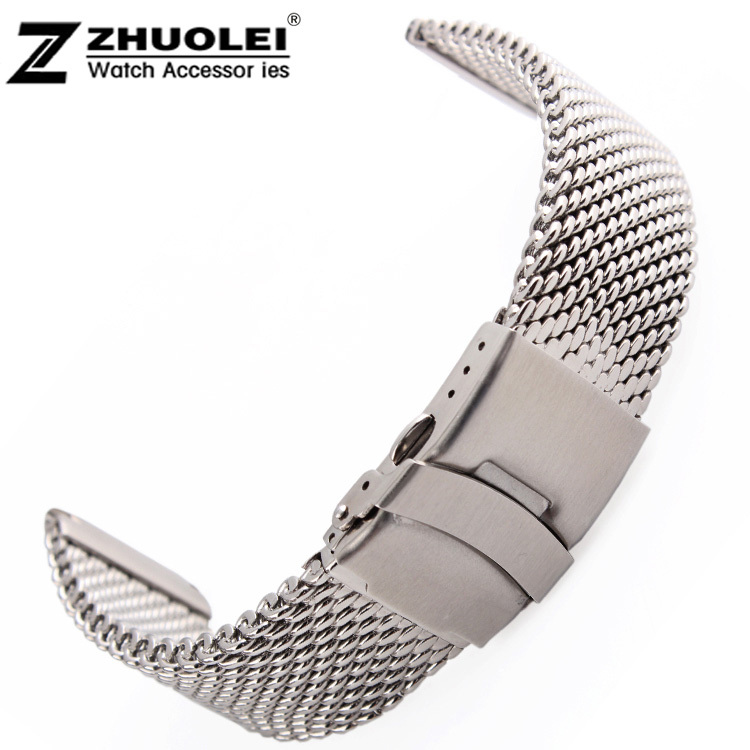 22mm 24mm Replacement Band Shark Mesh Stainless Steel Divers Watch Strap Adjustable Length Free Shipping <br><br>Aliexpress