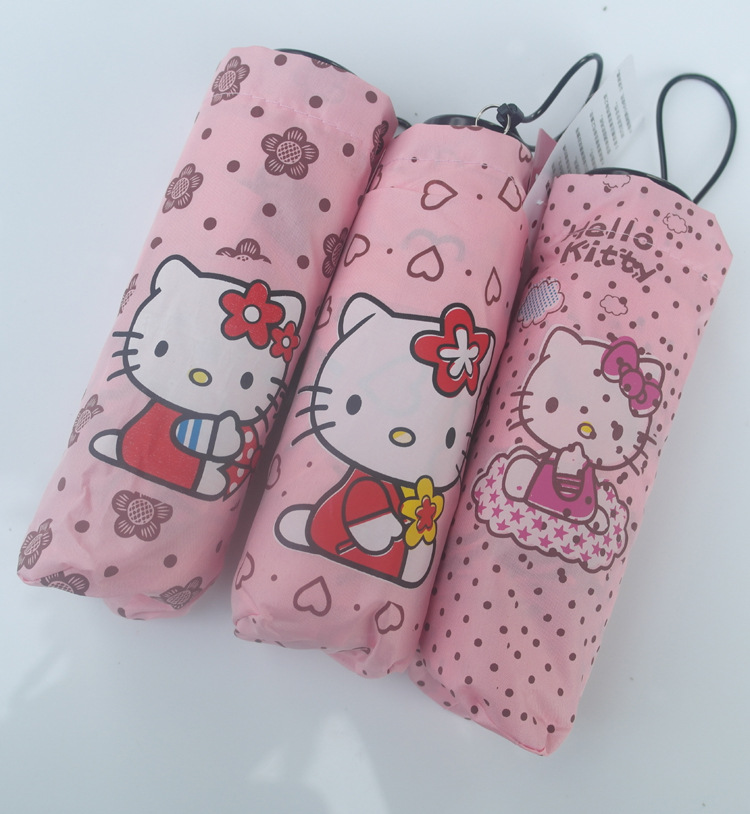 NEW HOT lovely Cartoon Hello Kitty children anime umbrella for kids girl cute umbrella baby white umbrella(China (Mainland))