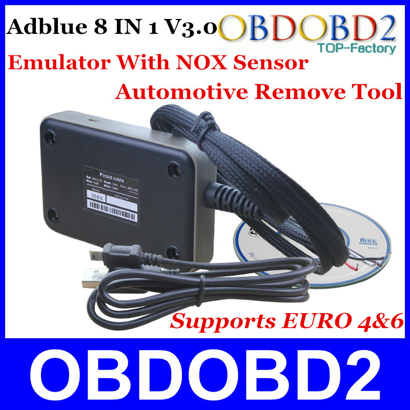 2015 New Arrivals ADBLUE Emulator 8 IN 1 V3.0 With NOX Sensor Emulator Supports Euro 4&6 Remove Tool For Ford and 7Kinds Truck(China (Mainland))