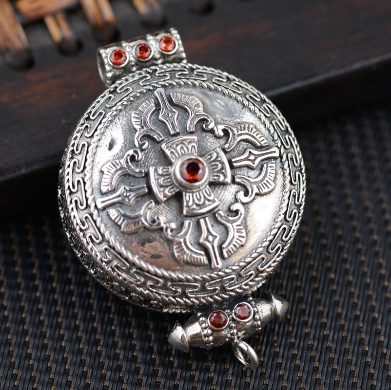 Фотография Deer King silver silver wholesale S925 Silver Antique Style open Mens personality Pendant