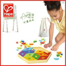 Hape geometry toy puzzle pamboo Large 3 puzzle three-dimensional puzzle(China (Mainland))