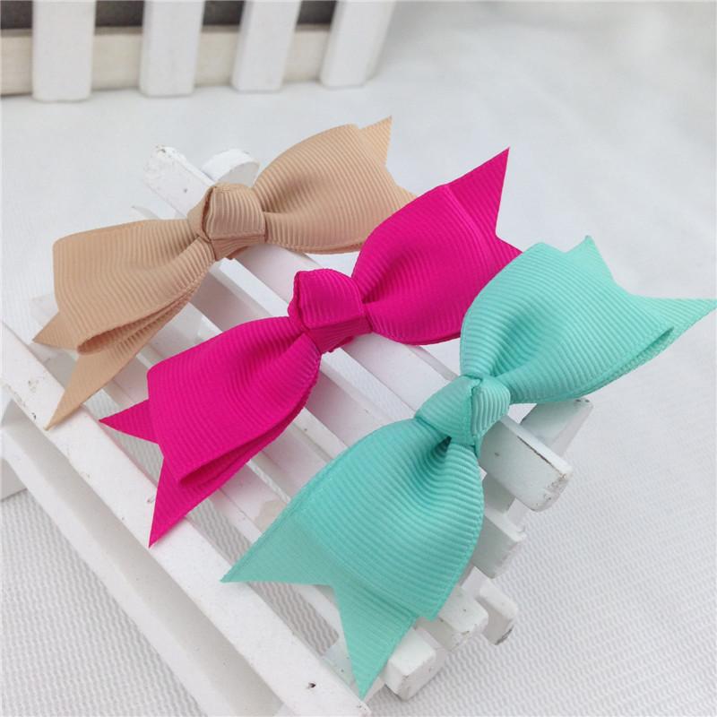 """22pcs/lot 3.5"""" Handmade Pinwheel Grosgrain Hair Ribbon Bow Cheerleading Bows Clips Girls Hair Accessories"""