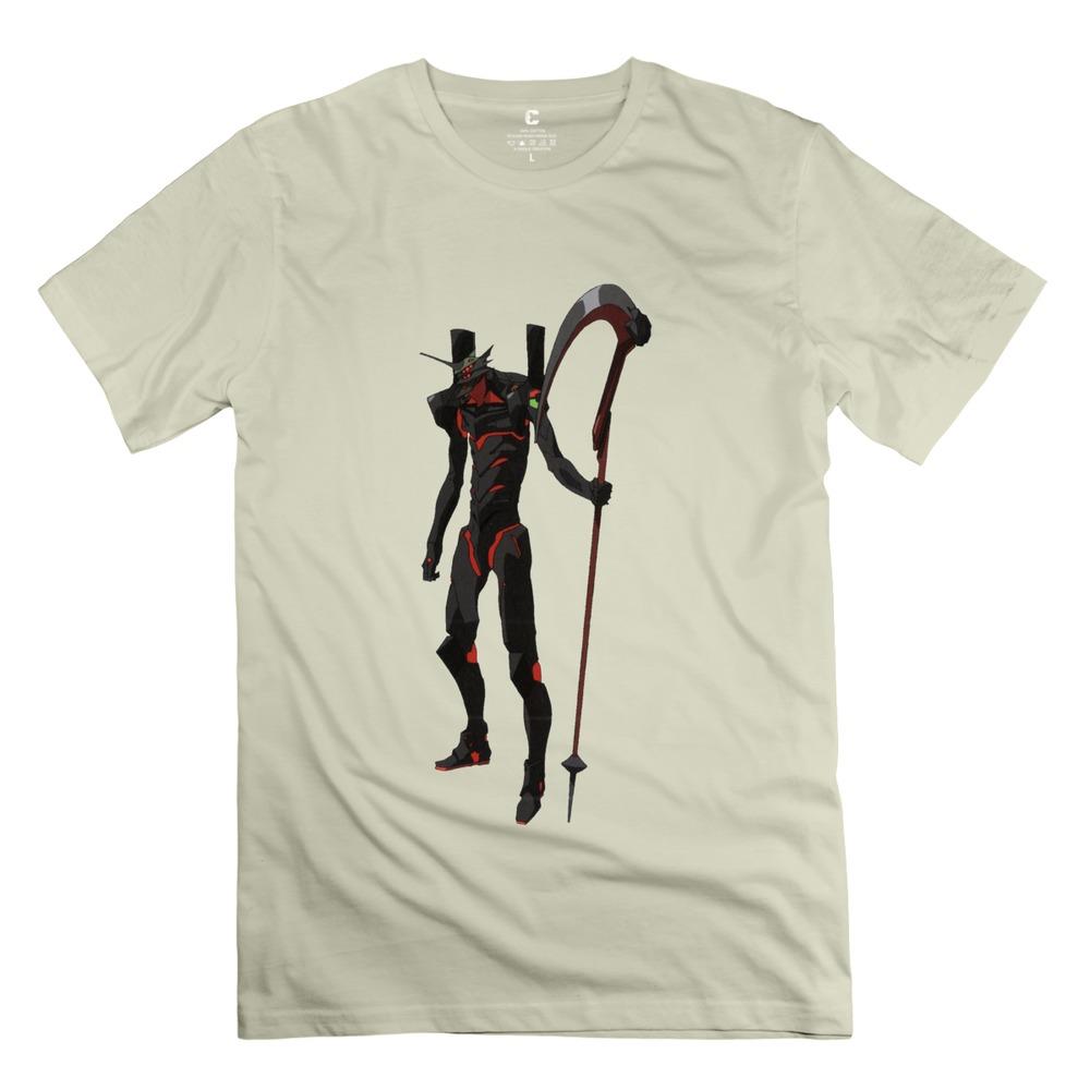 Men Evangelion Mark 2015 Latest t shirts Unique Men Short Sleeve 100% Cotton t shirt Free Shipping(China (Mainland))
