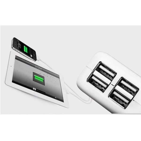 4 USB Ports EU US UK AU Plug Home Travel Wall AC Power Charger Adapter For iPhone 4S 5S 6 iPad Air Mini Samsung Galaxy S5 S4 S3