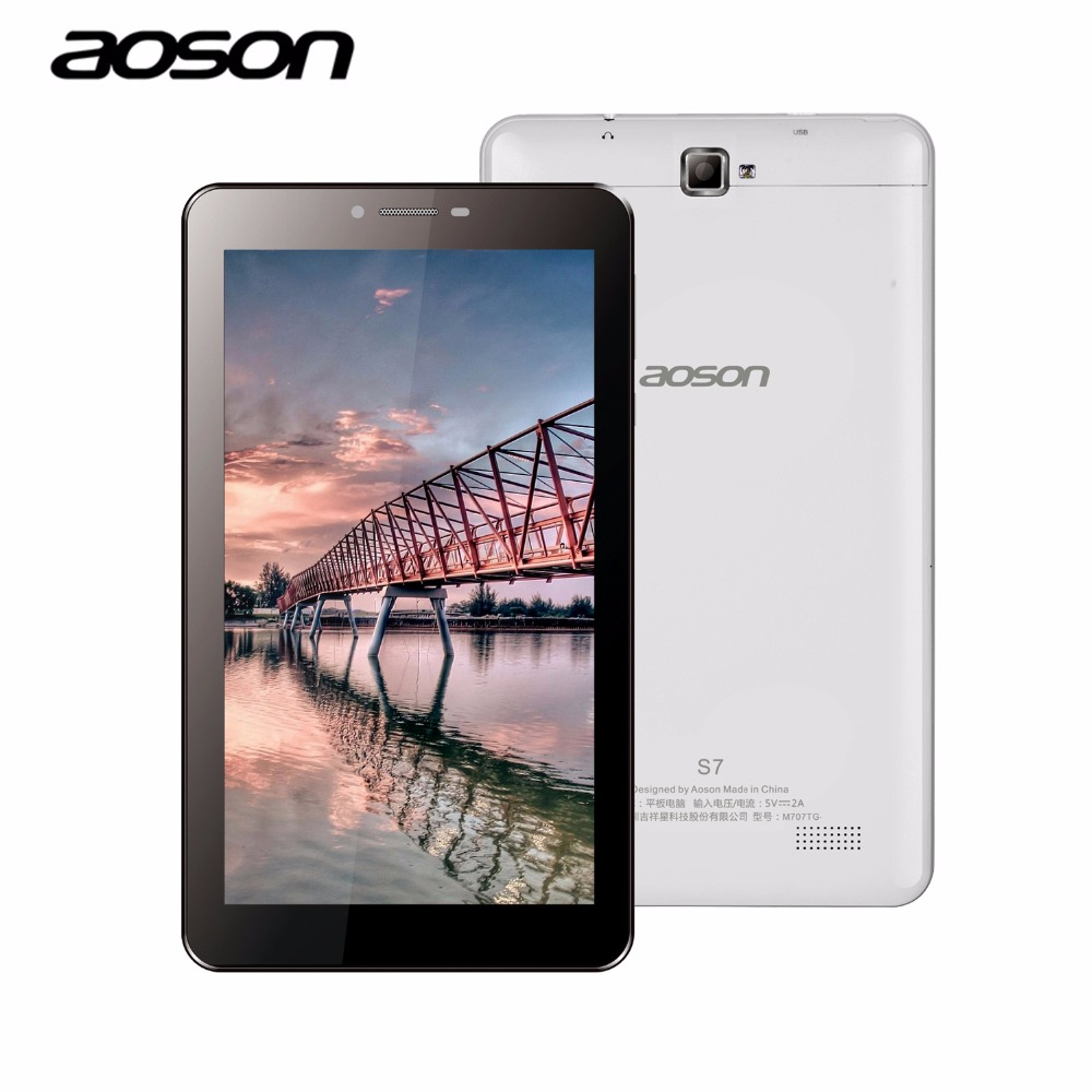 Latest 7'' S7 Aoson 2G 3G Wifi Phone Call Tablet PC 8GB ROM Quad Core 1024*600 IPS Screen With Bluetooth Dual Camera GPS Phablet(China (Mainland))