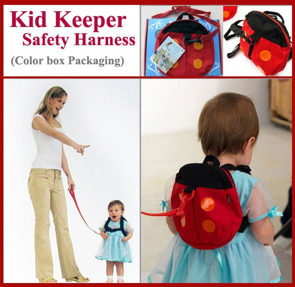 Child keeper Baby Safety Harness Kid Harnesses Toddler Reins Backpack Straps Bat Bag Anti-lost Walking Wings- Retail box(China (Mainland))