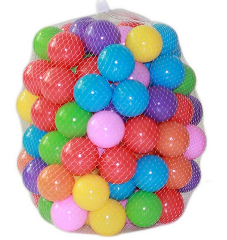 100pcs/lot Eco-Friendly Colorful Soft Plastic Water Pool Ocean Wave Ball Baby Funny Toys stress air ball outdoor fun sports(China (Mainland))
